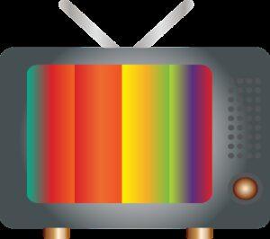 retro television, static, rabbit ears